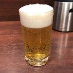 いきなり!ステーキ - グラス生ビール 270円。