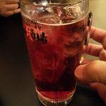 大衆昭和居酒屋 川崎の夕焼け一番星 - 赤玉パンチ、ワインなのにジュースみたいで飲みやすいが悪酔い注意!