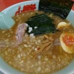 山岡家 - 料理写真:プレミアム醤油とんこつの味玉セット(950円)