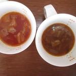 キッチンガーデン ふるかわ - 2種のスープ