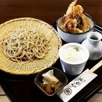 玄杜亭 - 料理写真:小天丼とそばのセット‼