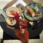 日本料理 銀座 一 - 焼き物 盛り合わせ