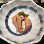 日本料理 銀座 一 - トマトの胡麻豆腐  松茸添え
