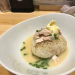 鶏白湯SOBAとよだれ鶏の店 虎舎 - 追い飯用リゾットライス(ノーマルバター)