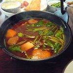 鳴沢苑 - 猪鍋です。