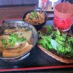 虜 - とりこそば&ジューシー 700円也 「あっさりしっかりスープ」麺が3種類から選べるのが嬉しいね^^
