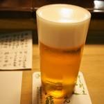 英ちゃん冨久鮓 - 生ビールが美味しい!!