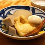 南渋谷 なみの上 - おでん  大根、玉子、カマンベール巾着、海老芋