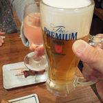 鶏○酒場 - 再び・・・三度・・・ビールとワインです