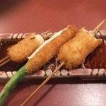 串の坊 - 豚フィレ(豚ネギま)、うずら、アスパラ