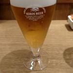 山かつ - グラスビール