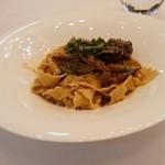 リストランテ カーサ瀬戸内 -   牛ほほの赤ワイン煮込みと牛蒡のパッパルデレ