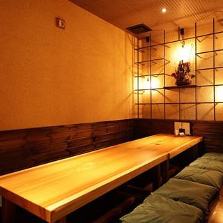 大小さまざまな個室