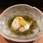大阪豚しゃぶの会 - 京豆腐の石蓴あんかけ