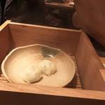 大阪豚しゃぶの会 - 茶豆の包み蒸しデキタヨ━(゚∀゚)━!