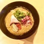 潮 くろ喜 - 牡蠣味噌スパイスそば・1,300円