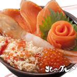 北のグルメ亭 - えび・かに・サーモン丼