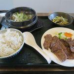 北海道ジンギスカンと炭焼牛タンの店 廣 - 料理写真:牛タン定食(1,400円)