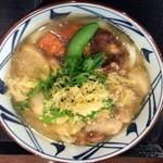 丸亀製麺 - 野菜揚げ出しかけうどん