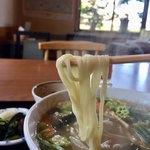 こうなん亭 - ちょい太麺。