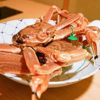 松川 - 料理写真:緑のマークが付く蟹