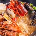 オリーブオイル料理専門店 A・Olio - オマール鍋プラス海鮮いっぱい