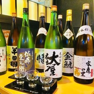 日本酒、焼酎を中心にこだわりのお酒を多数ご用意しております♪