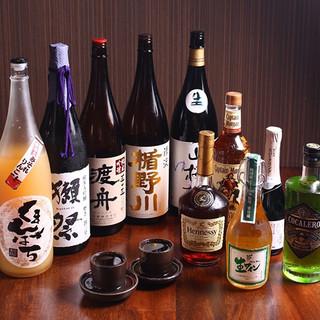 地酒、生ワイン、ドリンク各種200種以上