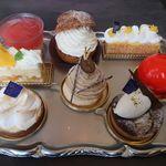 エスタシオン カフェ - ケーキサンプル