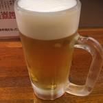 エノキ屋酒店 - サッポロ黒ラベル生ビール中