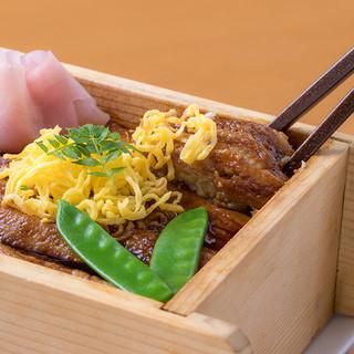 西の丸名物「煮穴子のぬく寿司」