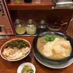 76222669 - 濃厚海老雲呑麺+魯肉飯('17/11/10)
