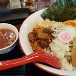 麺屋 から草 - 「油そば」と「中華スープ」(2017年11月10日)