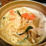 しゃぶしゃぶ温野菜 - 〆は豆乳出汁に中華麺で