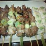 金太郎 - 葱真、砂肝、ハツの塩焼