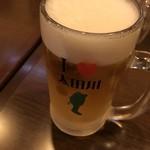 名鉄 太田川駅前 大衆酒場 サンヂカラ - ドリンク写真:半額生ビールで乾杯!