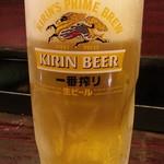 76233694 - 生ビールは一番搾り480円