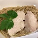 麺屋M - 煮干し生姜水 芝海老つけ麺 麺アップ