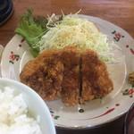 ハルピン食堂 - とんかつ定食¥600