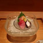 お料理 とみやま - 真鯛の昆布締め、鰤、蛸の刺身の盛合せ