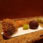 お料理 とみやま - 松茸フライアップ