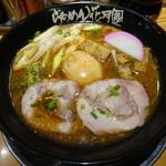 らあめん花月嵐 - 戦国武将ラーメン家康公(830円)