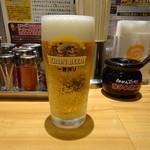 らあめん花月嵐 - 生ビール(小)(350円)