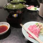 和食 浮橋 - 京都産和牛の味しゃぶ