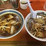 ラーメン富士屋 - チャーシュ-メン 700円   ワンタンメン550円