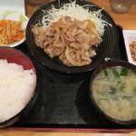 酒処 つがる - 豚生姜焼き