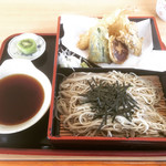 渋谷食堂 - 天ざるそば  ¥1000-