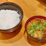 76252057 - 炊きたてご飯と豚汁