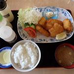 知床食堂 - どすいかのフライ定食