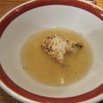 鮎ラーメン - 鮎焼きおにぎりのリゾット